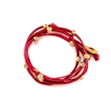 Marlyn Schiff Crystal Wrap Bracelet - Red/Gold