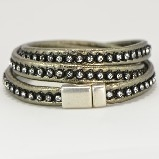 Merx Wrap Bracelets with Crystals -Bronze