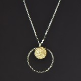 Sharelli Small Gold & Black Dazzle Pendant Necklace