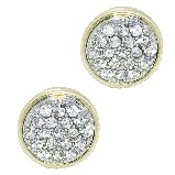 Swarovski Crystal Gold Pave Earrings