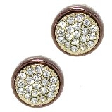 Swarovski Crystal Chocolate-Toned Pave Earrings
