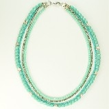 j-l Multi-Strand Aqua & Silver Elements Necklace
