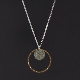 Sharelli Small Black & Brown Dazzle Pendant