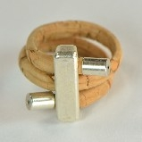 Natural Cork Stick Shape Ring