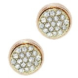 Swarovski Crystal Pave Rose-Gold Earrings