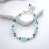 Karley Smith - Swarovski Crystals with Pearls & Blue Glass & Silver Bracelet