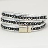Merx Wrap Bracelets with Crystals - Silver