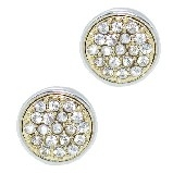 Swarovski Crystal Pave Rhodium Earrings